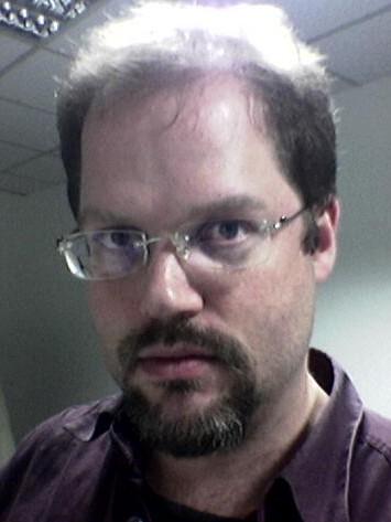 Me, circa 2005, scowling
